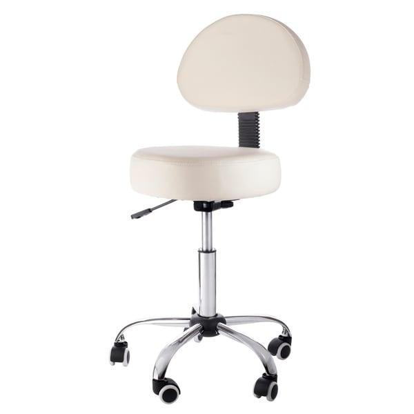 Beige Pneumatic Rolling Adjustable Medical/ Massage Stool