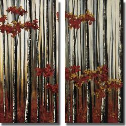 Oscar Soler 'Beauty Within I and II' 2-piece Canvas Art Set