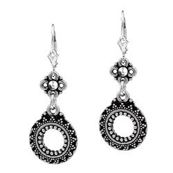 Charming Life Sterling Silver Sun Circle Earrings