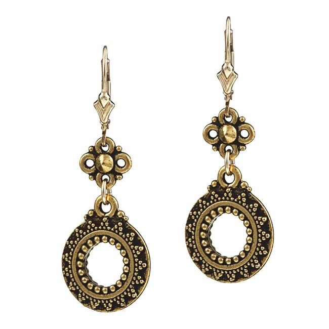 Charming Life 14K Goldfill Sun Circle Earrings