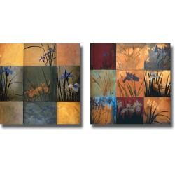 Don Li-Leger 'Iris Nine Patch Set' 2-piece Canvas Art Set