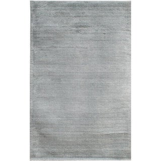 Hand-loomed Haiden Grey Wool Rug (8' x 10')