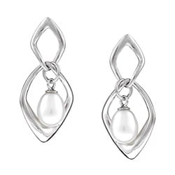Kabella Sterling Silver Freshwater Pearl Earrings (6-7mm)