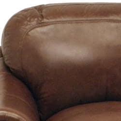 Yale Mahogany Italian Leather Sofa and Chair
