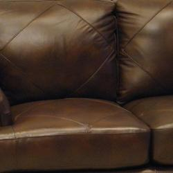 Shoreline Chocolate Italian Leather Sofa and Two Chairs