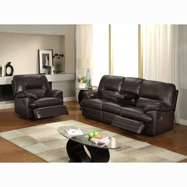Coney Coffee Italian Leather Reclining Sofa and Recliner Chair  sc 1 st  ShopFest & Leather Recliners Chair Leather Reclining Comfort Chairs furniture islam-shia.org