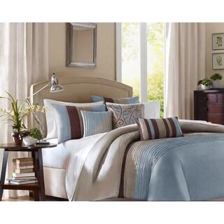 Madison Park Salem Blue 6-piece Duvet Cover Set