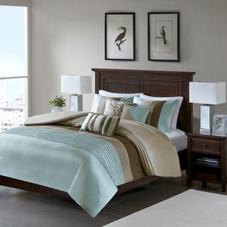 Madison Park Salem Blue 6-piece Duvet Cover Set