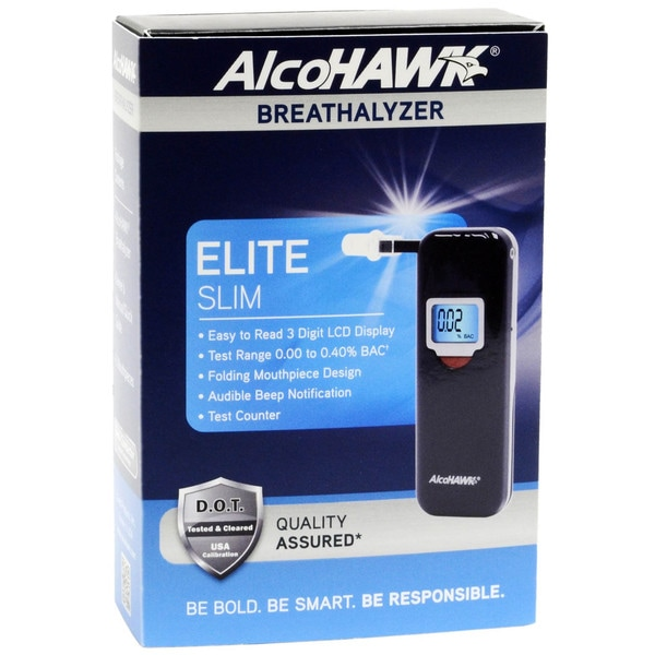 AlcoHAWK Slim 2 Digital Breathalyzer