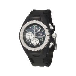 TechnoMarine Women's 'Cruise Original' Steel and Black Silicon Watch