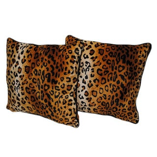 Cheetah Print 18-inch Pillows (Set of 2)