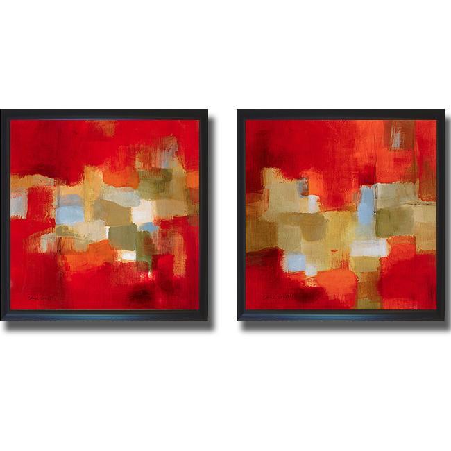Lanie Loreth 'Downtown Rain I and II' Framed 2-piece Canvas Art Set