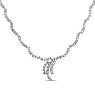 Miadora Signature Collection 18k White Gold 5 3/4ct TDW Diamond Necklace (G-H, SI1-SI2)