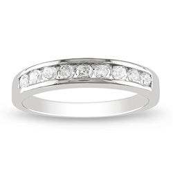 Miadora Sterling Silver 1/2ct TDW Diamond Ring (G-H, I2-I3)