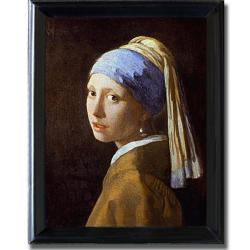 Johannes Vermeer 'Girl with Pearl Earring' Framed Canvas Art
