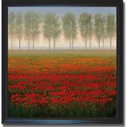 Park 'Morning Mist' Framed Canvas Art