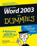Word 2003 for Dummies (Paperback)