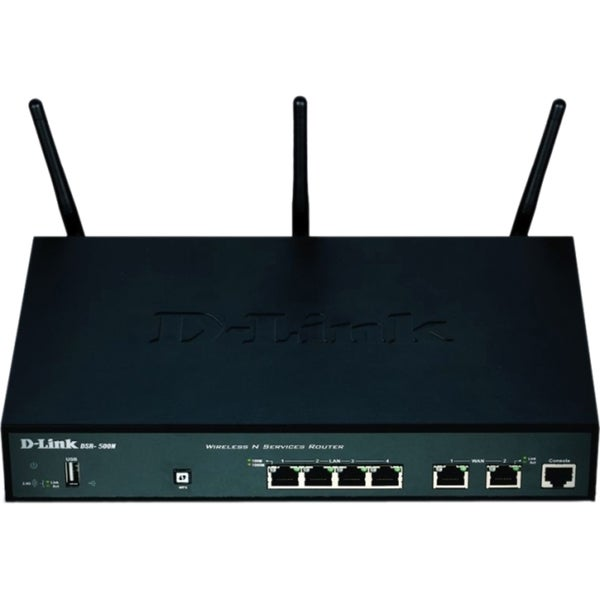 D-Link DSR-500N Dual Wan 4-Port Gigabit Wireless VPN Router with Dyna