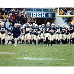 Steiner Sports Notre Dame Coach Charlie Weis Autographed Photo