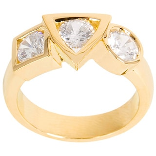 NEXTE Jewelry 14k Gold Overlay Cubic Zirconia Varaform Basic Shapes Ring