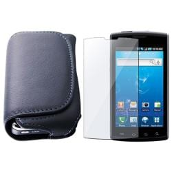 Leather Case/ Screen Protector for Samsung i897 Captivate