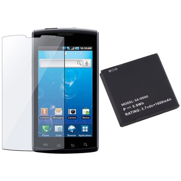 INSTEN Clear Screen Protector/ Li-ion Battery for Samsung i897 Captivate