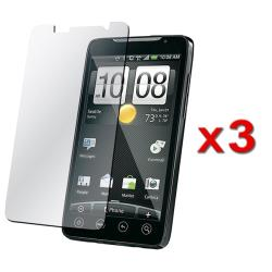 INSTEN Clear Screen Protector for HTC EVO 4G (Pack of 3)