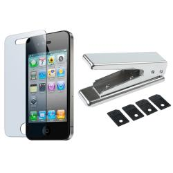 SIM Card Cutter/ Screen Protector for Apple iPhone 4