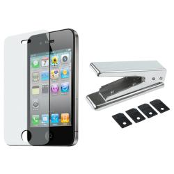 SIM Card Cutter/ Anti-glare Screen Protector for Apple iPhone 4