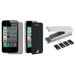 SIM Card Cutter/ Privacy Screen Filter for Apple iPhone 4