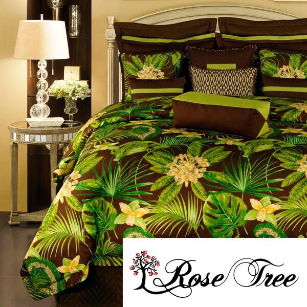 Rose Tree Rainforest 4-piece Queen-size Comforter Set