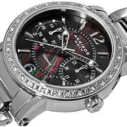 Akribos XXIV Women's Diamond Swiss Steel Day/ Date Watch