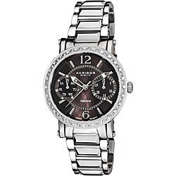 Akribos XXIV Women's Diamond Swiss Steel Day/ Date Watch