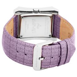 August Steiner Savannah Women's Swiss Quartz Purple Strap Watch