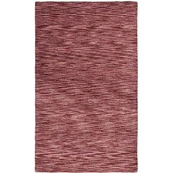 Hand-tufted Purple Fusion Wool Rug (5' x 8')