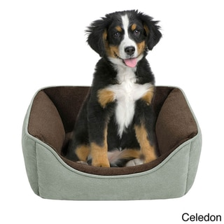 Soft Touch Reversible Rectangular Indoor Brown Pet Bed
