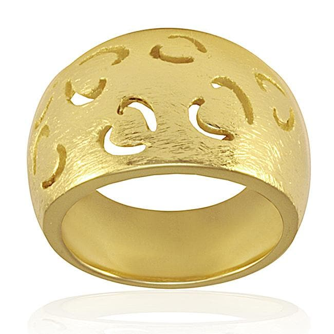 Goldplated Stainless Steel Cutout Heart Ring