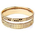 West Coast Jewelry Goldtone Stackable 2-piece Embossed Circle Bangle Set