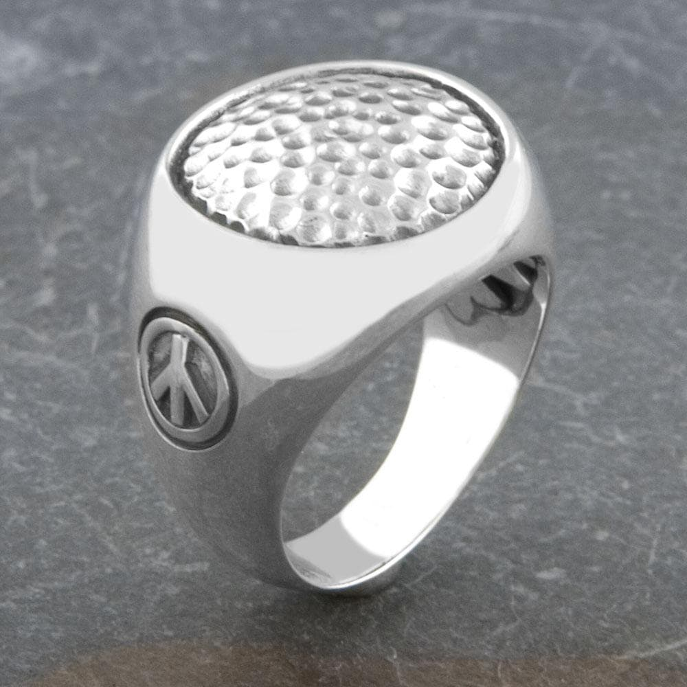 Sterling Silver Hammered 'Cawi' Ring (Indonesia)