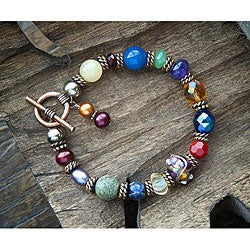 Classic Copper Medley Gemstone Bracelet