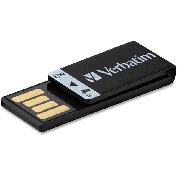 Verbatim 4GB Clip-It USB Flash Drive - Black