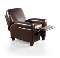 EuroDesign Brown Leather Recliner