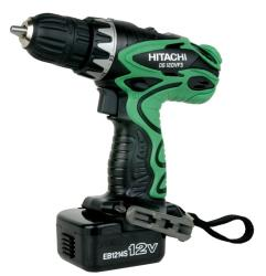 Hitachi 12-volt 0.375-inch Driver Drill Kit with Flashlight (Refurbished)