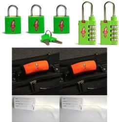 Global Lime Green TSA Locks with Green Padlocks (Set of 2)