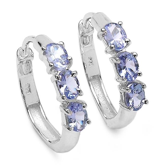 Malaika Sterling Silver Tanzanite Earrings