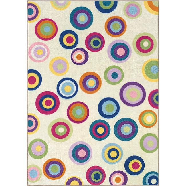 Alexa Playtime Collection Rainbow Ribbons Multi Rug (411 x 7
