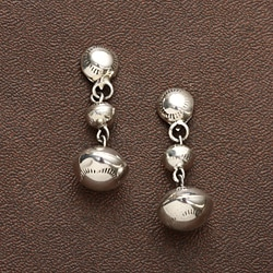 Peyote Bird Designs Sterling Bead Drop Earrings (USA)