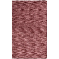 Hand-tufted Purple Abstract Wool Rug (8' x 10')