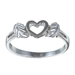 Black Hills Silver Heart Cutout Ring