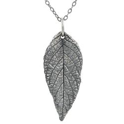Tressa Sterling Silver Oxidized Leaf Necklace